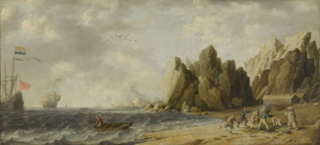 Bonaventura Peeters, IJsberenjacht op de kust van Noorwegen(?) (Rijksmuseum).