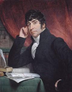 Willem Bilderdijk in melancholische pose, door Charles Howard Hodges, 1810 (Rijksmuseum).