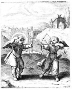 Afb. 2. Otho Vaenius, Amoris Divina Emblemata, Antwerpen 1615. Editie Emblem Project Utrecht. Embleem 13.