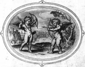 Afb. 1. Otho Vaenius, Amorum Emblemata, Antwerpen 1608. Editie Emblem Project Utrecht: Embleem 5.