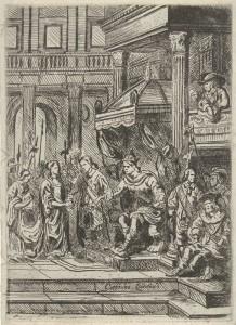Titelpagina van Questiers, Den geheymen minnaar, 1654.