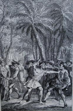 Slaven komen in opstand, uit: Monzongo (1774)