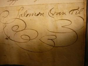 Handtekening van Salomon van Til.