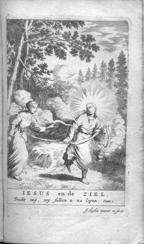 Jan Luyken, Jezus en de Ziel, 1685. Frontispiece. Editie Emblem Project Utrecht: