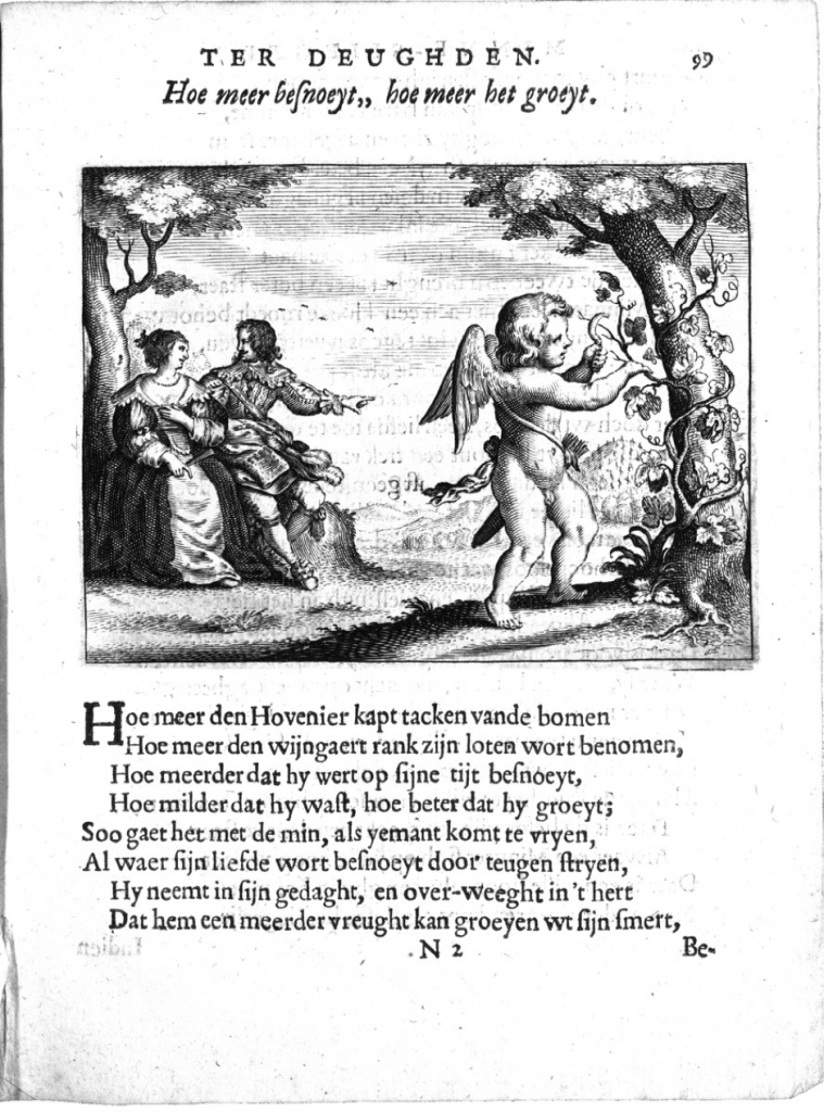 Minne-spiegel ter deughden. Cornelis Danckertsz van Zeevenhoven, Amsterdam 1639, p. 99.