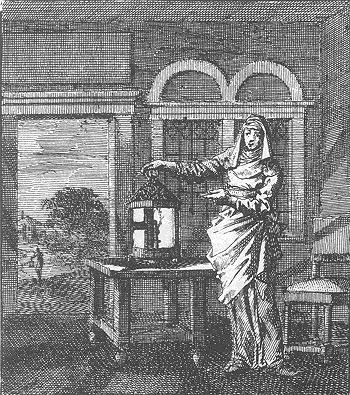 Jan Luyken, 'De lantaaren'. In: Jan Luyken, Het leerzaam huisraad. Wed. P. Arentz en K. vander Sys, Amsterdam 1711. Fotomechanische herdruk De Banier, Utrecht 1977, p. 156.