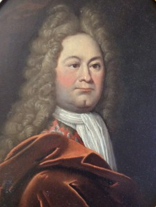 uitsnede uit een ongedateerd, ongesigneerd geschilderd portret van Jan van Hoogstraten op een ovaal paneel, toegeschreven aan Arnold Houbraken.