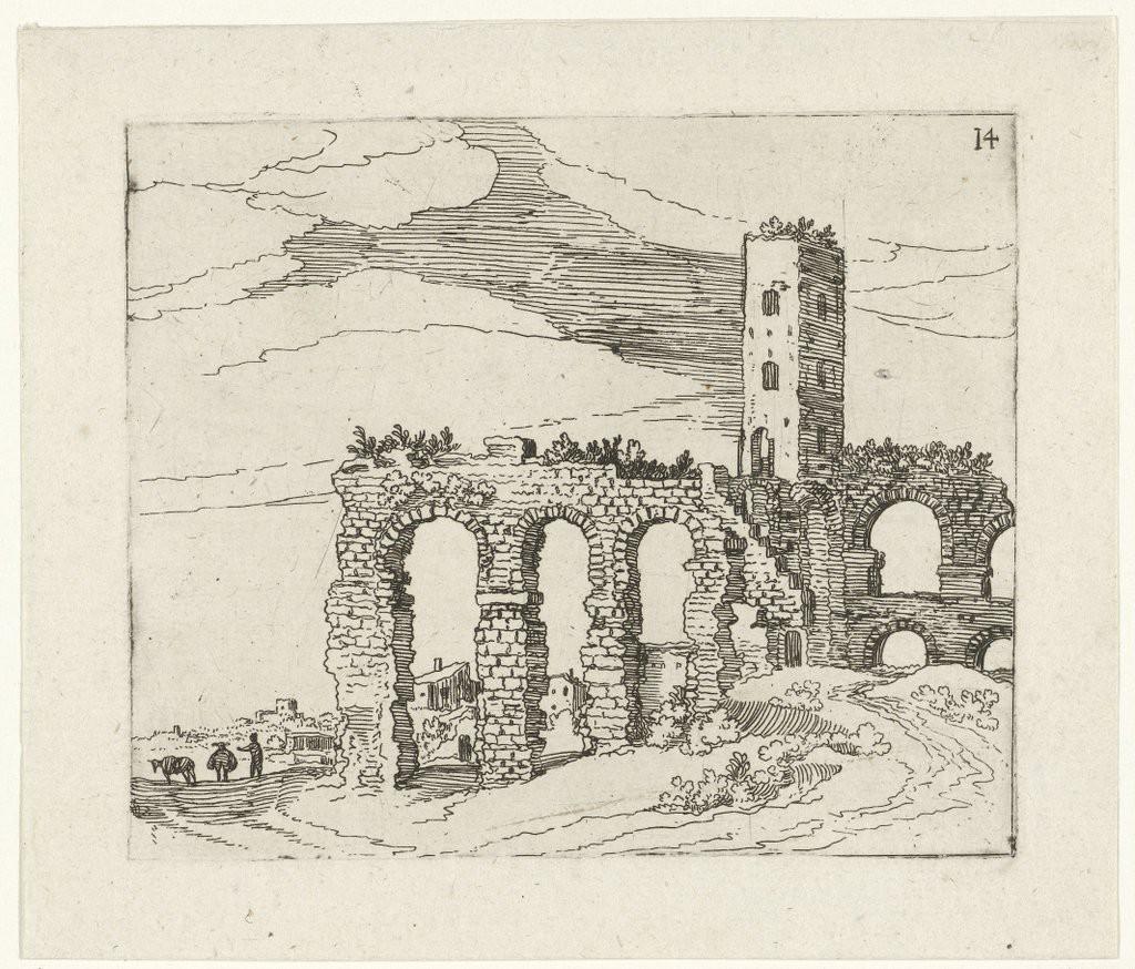 Willem van Nieulandt, Ruïne van een Romeinse aquaduct (Rijksmuseum)