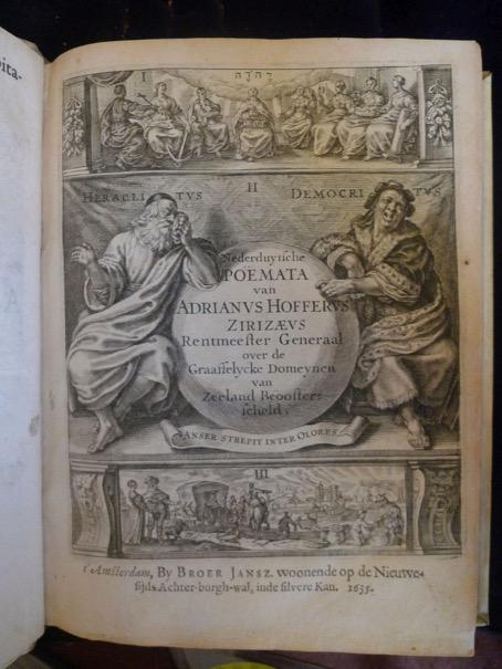 Titelpagina van Hofferus' Nederduytsche Poemata (1635).