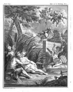 Titelprent van de Rottestroom (1750).