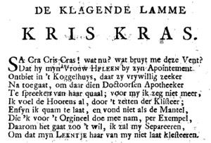 Uit: Tweede vervolg van de Latynsche en Nederduitsche keurdichten (Rotterdam, 1724), p. 109.